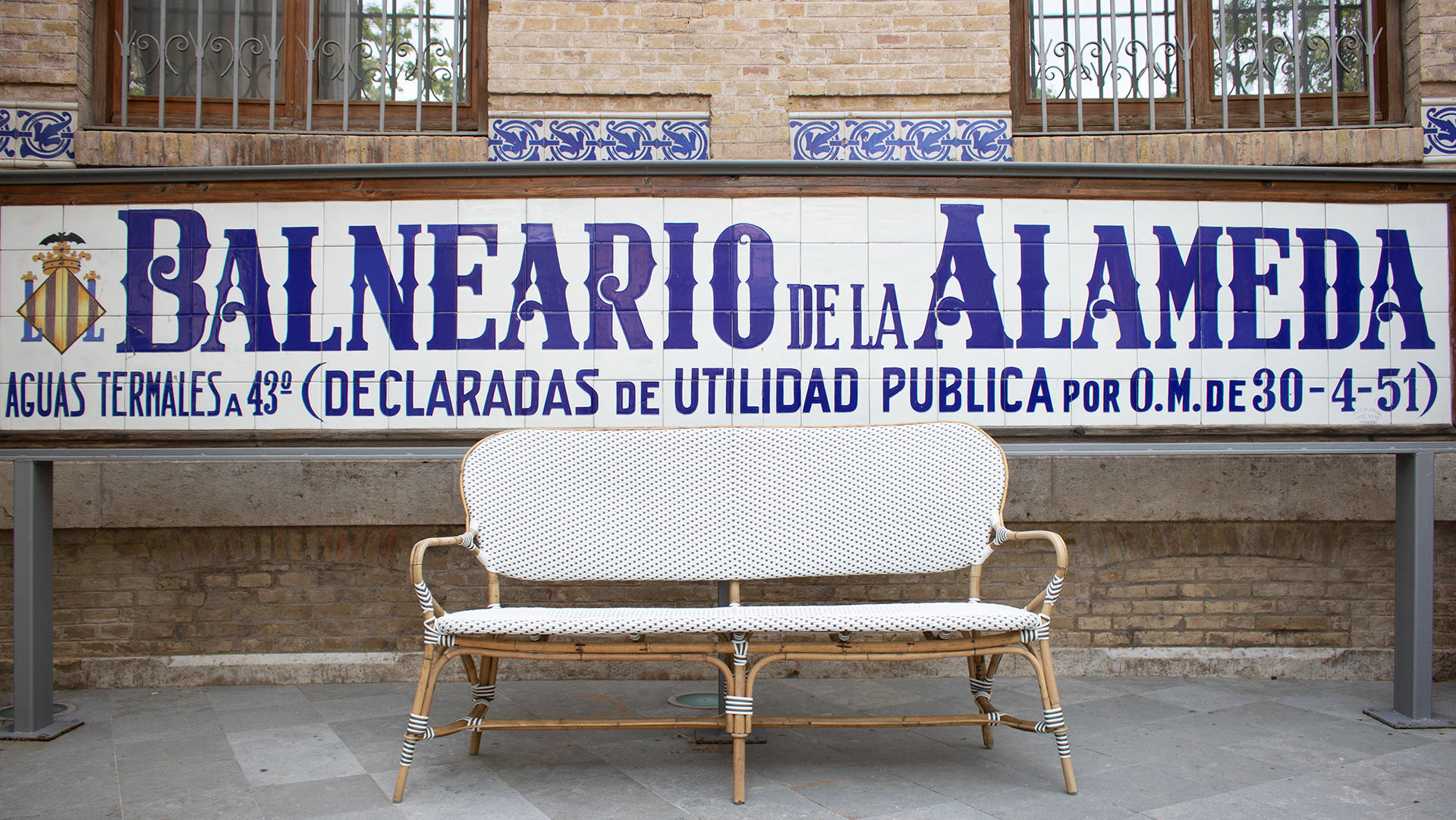 Sign of Balneario La Alameda
